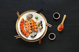 Fotos Sushi Fische - Lebensmittel Teller Lebensmittel