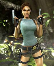 Images Tomb Raider Anniversary Pistols Lara Croft Games Girls 3D_Graphics