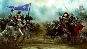 Photo Warriors Battles Bladestorm Armour Swords Nightmare vdeo game Fantasy