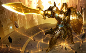Picture Warrior Heroes of Newerth Swords Armor Shield Blade of Soul, Jeraziah vdeo game Fantasy