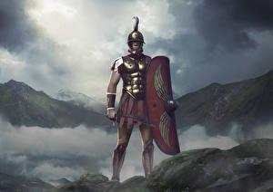 Photo Warrior Total War: Arena Shield Swords Helmet Scipio Games