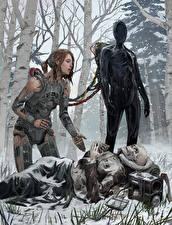 Wallpapers Winter Robot Skeleton Dead Cadaver Corpse Fantasy