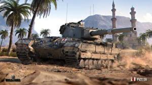Sfondi desktop World of Tanks Carri armati Britannici FV215b Grafica_3D