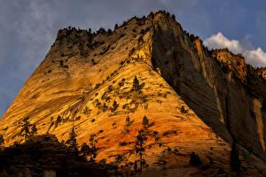 Hintergrundbilder Zion-Nationalpark Vereinigte Staaten Gebirge Park