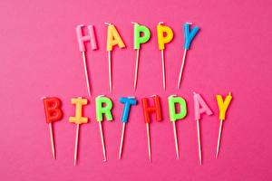 Picture Birthday Holidays English Word - Lettering