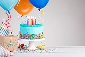 Bilder Torte Geburtstag Kerzen Lebensmittel