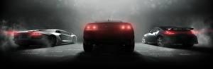 Bilder Chevrolet Nissan Lamborghini The Crew Hinten Spiele Autos