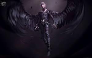 Hintergrundbilder Death Note Engeln Flügel Schrecklicher