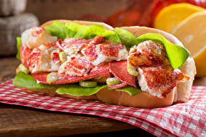 Pictures Fast food Sandwich Seafoods Fish - Food Vegetables Food