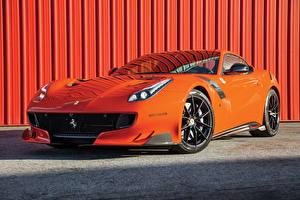 Wallpapers Ferrari Orange Metallic 2016-17 F12tdf automobile