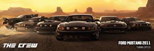 Bilder Ford The Crew Graue Vorne Mustang Spiele Autos