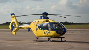 Bilder Hubschrauber Gelb F-HNCE Rouen Luftfahrt