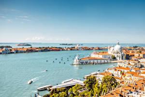 Fotos Italien Gebäude Seebrücke Venedig Bucht Städte