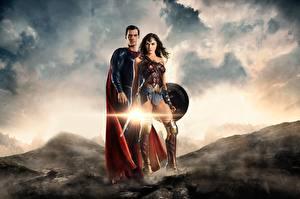 Bakgrunnsbilder Justice League 2017 Gal Gadot Wonder Woman helten Supermann helten Henry Cavill To 2 Film Kjendiser Unge_kvinner