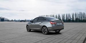 Wallpaper Lada Sedan Grey Vesta