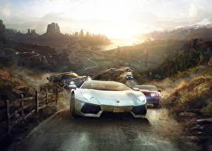 Wallpaper Lamborghini The Crew Rallying Front Games Cars