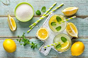 Wallpapers Lemons Lemonade Foliage Sugar Food