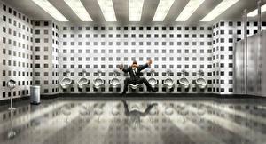 Bilder Men in Black 3 Mann Fan ART Toilette Film