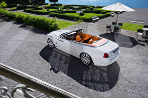 Wallpaper Rolls-Royce White Convertible Luxurious 2016-17 Dawn Cars