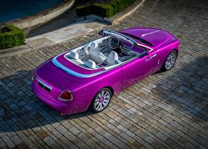 Wallpapers Rolls-Royce Cabriolet Metallic Luxurious From above Violet 2017 Dawn in Fuxia auto