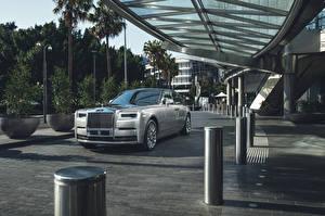 Desktop hintergrundbilder Rolls-Royce Graue Metallisch 2017 Phantom Worldwide Autos