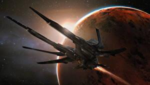 Bureaubladachtergronden Star Citizen Ruimteschip Planeet computerspel Fantasy