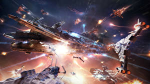 Wallpapers Star Conflict Battles Starship vdeo game Fantasy