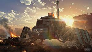 Bilder Technik Fantasy Crossout Spiele 3D-Grafik Fantasy