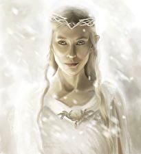 Bakgrunnsbilder Ringenes herre Alver Cate Blanchett Hobbiten Fan ART Galadriel, The Hobbit Film Unge_kvinner