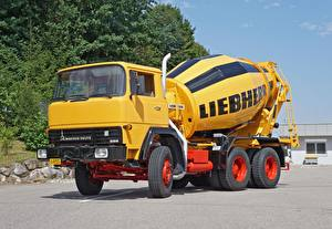 Wallpaper Lorry Yellow 1977- 2015 MAN Magirus-Deutz 256 D 26 FB Betonmischer Liebherr Type HTM-702 automobile