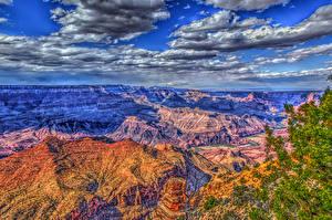 Fotos USA Grand Canyon Park Park Gebirge Himmel Wolke HDR Natur