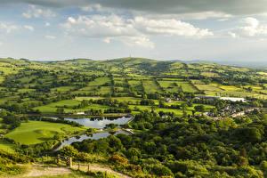 Hintergrundbilder Vereinigtes Königreich Acker Flusse Himmel Teggs Nose Country Park Natur