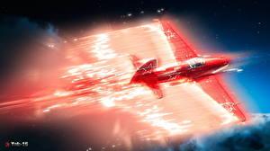Fondos de escritorio War Thunder Avións Avión de caza Ruso Yak-15 Juegos