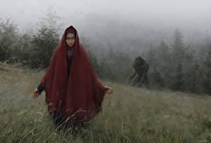 Bakgrunnsbilder Varulv Bokillustrasjoner Wolf bride, Gypsy bride of the Jurand