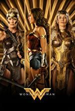 Wallpapers Wonder Woman (2017 film) Wonder Woman hero Warrior Three 3 Diana, Hippolyta, Connie Nielsen, Robin Wright film Girls Celebrities