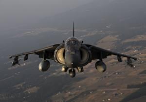 Fotos Flugzeuge Erdkampfflugzeug Vorne Amerikanisch Harrier II AV-8B