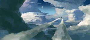 Bilder Flugzeuge Gezeichnet Wolke Luftfahrt