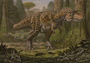 Wallpapers Ancient animals Dinosaurs Painting Art Tyrannosaurus rex Nanotyrannus lancensis