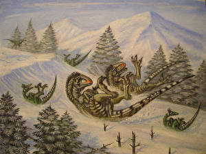 Images Ancient animals Dinosaurs Painting Art Raptor