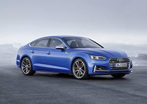 Sfondi desktop Audi Blu colori 2018 A5 S5 Auto