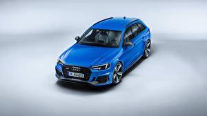 Bilder Audi Blau Kombi Avant 2018 RS4 Quattro Autos