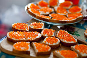 Hintergrundbilder Butterbrot Brot Meeresfrüchte Caviar das Essen