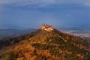 Wallpapers Castle Germany Mountain Hohenzollern Castle Hechingen Nature