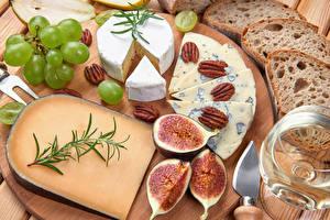 Hintergrundbilder Käse Weintraube Echte Feige Schalenobst Brot