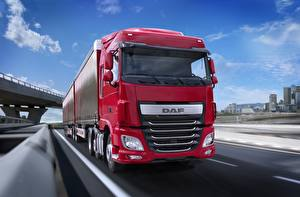 Pictures Trucks DAF Trucks Moving  automobile Nature
