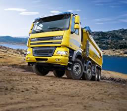 Images Trucks DAF Trucks Yellow  Cars