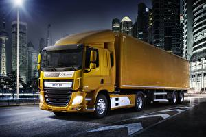 Wallpapers Lorry DAF Trucks Yellow  Cars