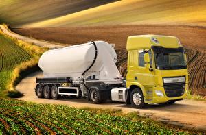 Image Trucks DAF Trucks Yellow  auto