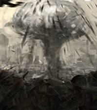 Bureaubladachtergronden Explosie Soldaat Fan ART The Pacific film