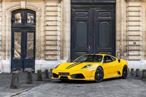 Wallpaper Ferrari Pininfarina Yellow Automobile 2007-09 430 Scuderia Cars